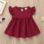 Toddler Girl Clothes Summer Sleeveless Ruffle Dress Wholesale Children's Clothing - Riolio