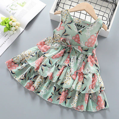 Floral Dress for Toddler Girl Wholesale children's clothing - Riolio