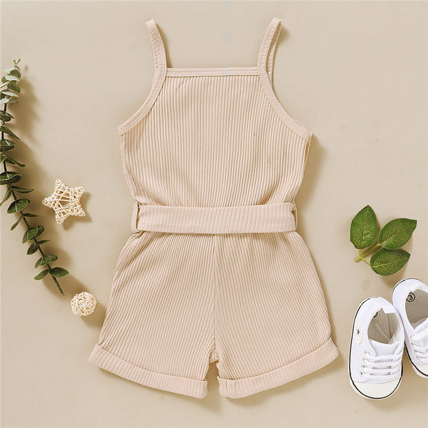 Solid Sling Bodysuit for Children's Clothing Wholesale - Riolio