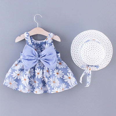 2-piece Pretty Dress with Hat Wholesale children's clothing - Riolio
