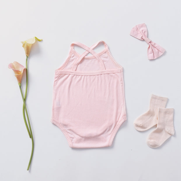 Solid Sleeve Bodysuit for Baby Girl Wholesale children's clothing - Riolio