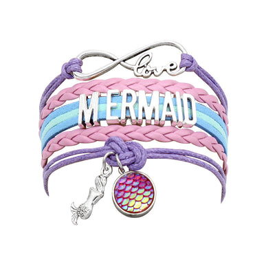 Girl Woven Mermaid Bracelet Wholesale Children's Clothing Style1 Free size