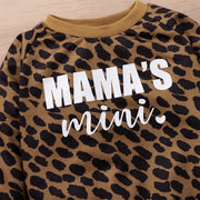 Leopard Letter Pattern Long sleeve T-shirt for Baby Wholesale Children's Clothing - Riolio