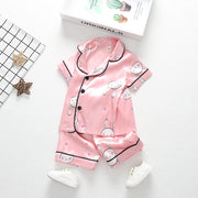2-piece Animal Pattern Pajamas for Toddler Girl Children's clothing wholesale - Riolio