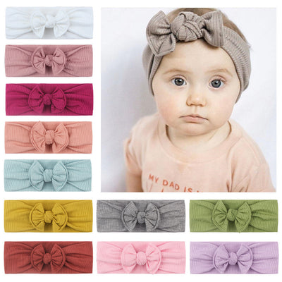 Headband with Bowknot Wholesale Children's Clothing Blue Free size