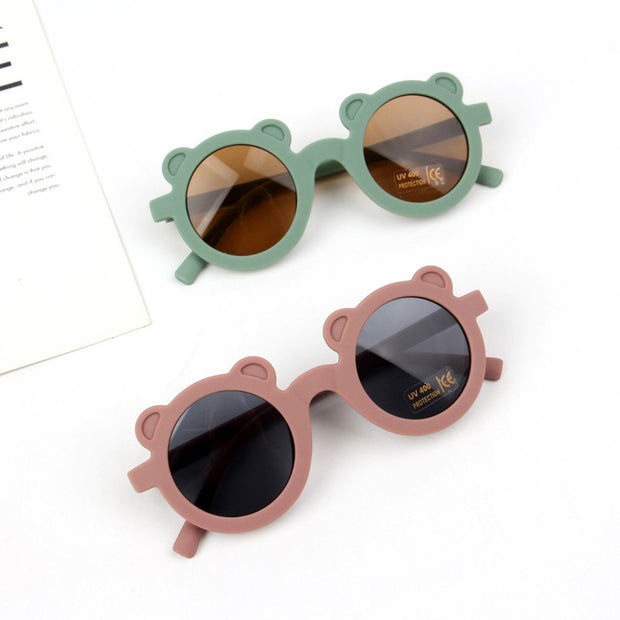 Fashion Round Frame Sunglasses Wholesale Light Green Free size