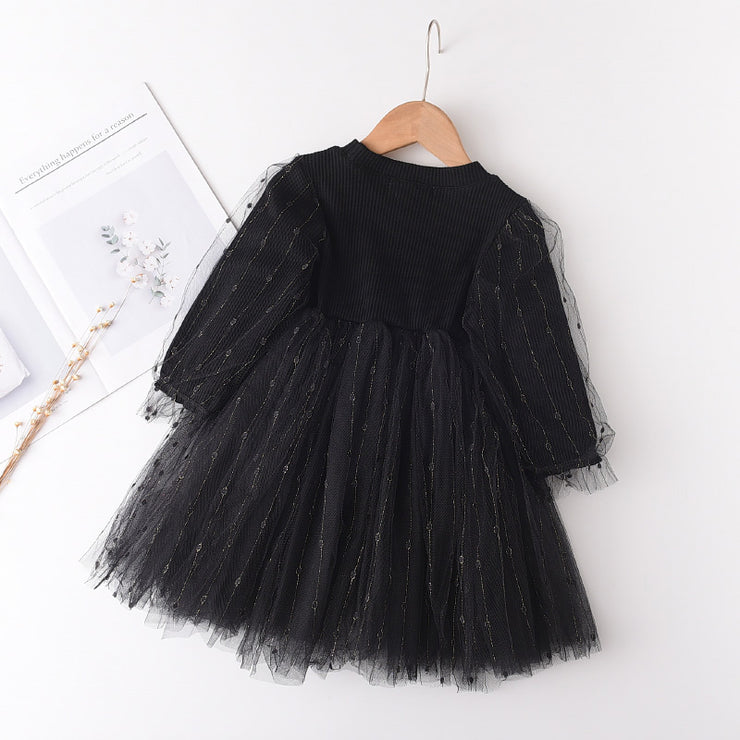 Sweet Solid Patchwork Tulle Dress for Toddler Girl Wholesale children's clothing - Riolio