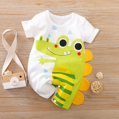 Animal Crocodile Pattern Bodysuit for Baby Boy Wholesale children's clothing - Riolio