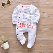 Letter I Really Love My Mummy/Daddy Jumpsuit for Baby Clothing Wholesale - Riolio