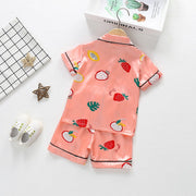 Toddler Girl 2pcs Fruit Pattern Summer Pajamas Sets Wholesale Children's Clothing Pink 18-24 Months
