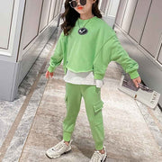 2-piece Color-block Sweatshirts & Pants for Girl Wholesale children's clothing - Riolio