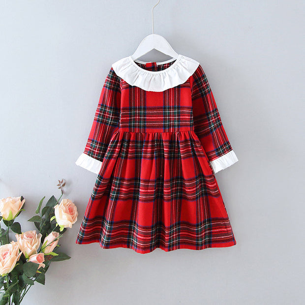 Plaid Dress for Toddler Girl Wholesale children's clothing - Riolio
