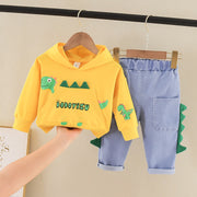 2-piece Dinosaur Printed Hoodie & Jeans for Toddler Boy Wholesale children's clothing - Riolio