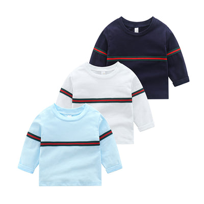 Striped Long Sleeve T-shirt for Toddler Boy Wholesale children's clothing - Riolio