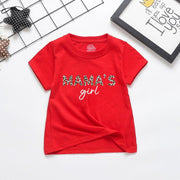 Parent-child Letter Pattern Mother Baby Clothes Wholesale Children's Clothing Black Girl: 2-3Y
