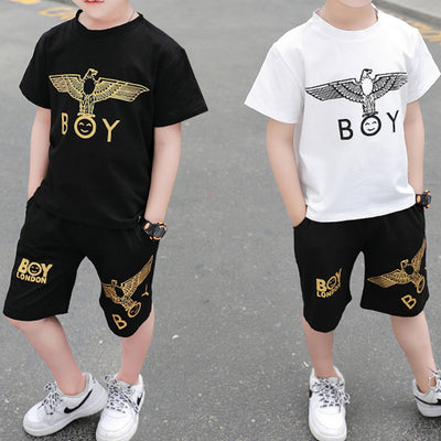 2-piece Animal Pattern T-shirt & Shorts for Toddler Boy Wholesale children's clothing - Riolio