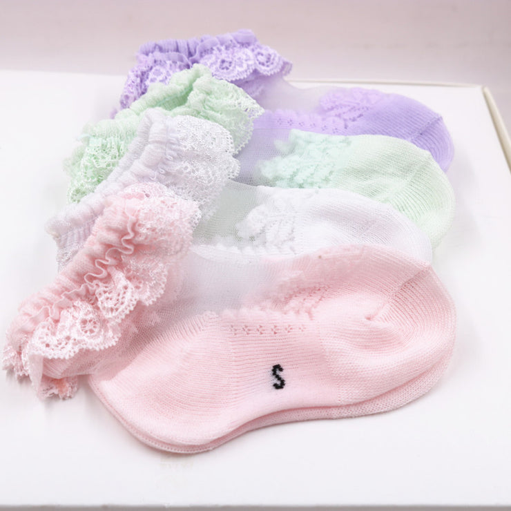 Lace Ruffled Breathable Socks Wholesale children's clothing - Riolio