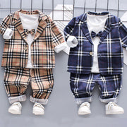 3-piece Coat & Shirt & Pants for Toddler Boy Wholesale children's clothing - Riolio