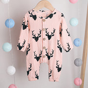 Dear Print Jumpsuit Wholesale children's clothing - Riolio