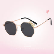 Girls Fashion Bow Metal Sunglasses Wholesale Black Free size