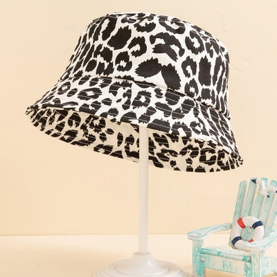 Leopard Print Bucket hat Sunhat for girls Wholesale Style1 1-3 Years