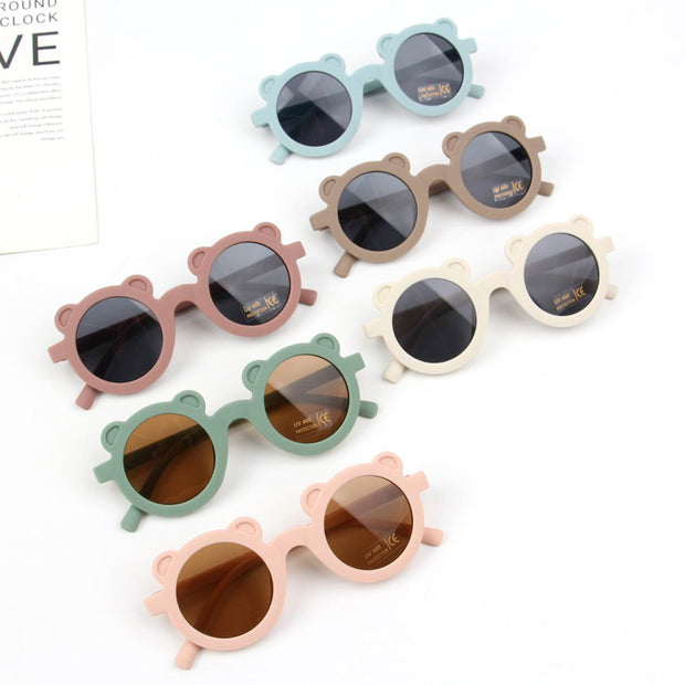 Fashion Round Frame Sunglasses Wholesale Cameo brown Free size