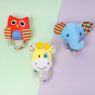 Baby Kids Rattle Toys Cartoon Animal Plush Hand Bell Baby Stroller Crib Hanging Rattles Infant Gifts Wholesale children's clothing - Riolio