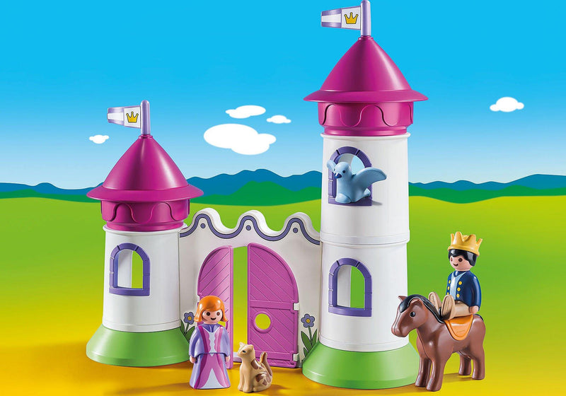 Playmobil 1 2 3 Castle with stackable towers