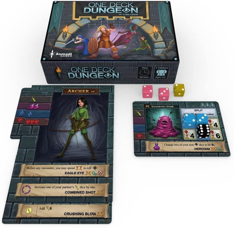 One Deck Dungeon Version Anglaise