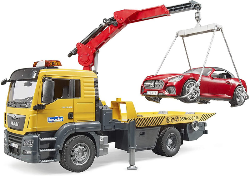 Man Tgs Tow truck with Bruder Roadster module and L-S
