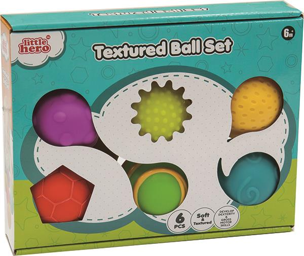 Textured balls 6 pieces
