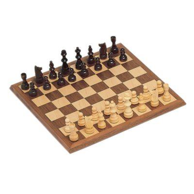 Walnut Wood Chess 12in