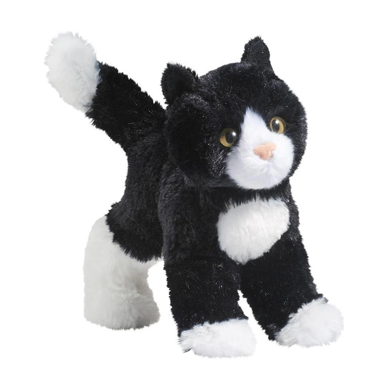 Peluche Snippy Black & White Cat