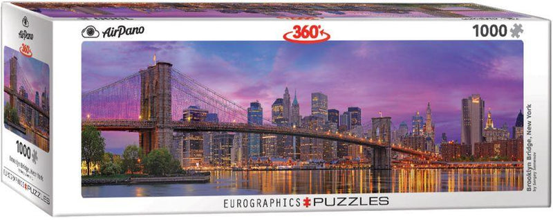 Eurographics 1000p Panorama Pont de Brooklyn, New York