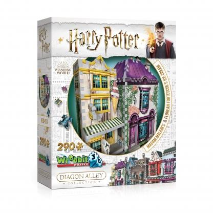 Wrebbit Puzzle 3D Harry Potter Madam Malkin's & Florean Fortescue's Ice Cream