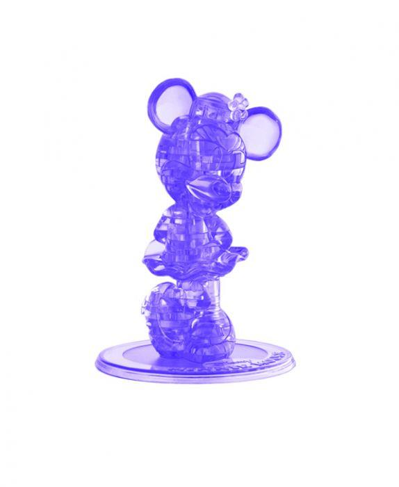 Bepuzzled Crystal 3D Disney Minnie Mauve