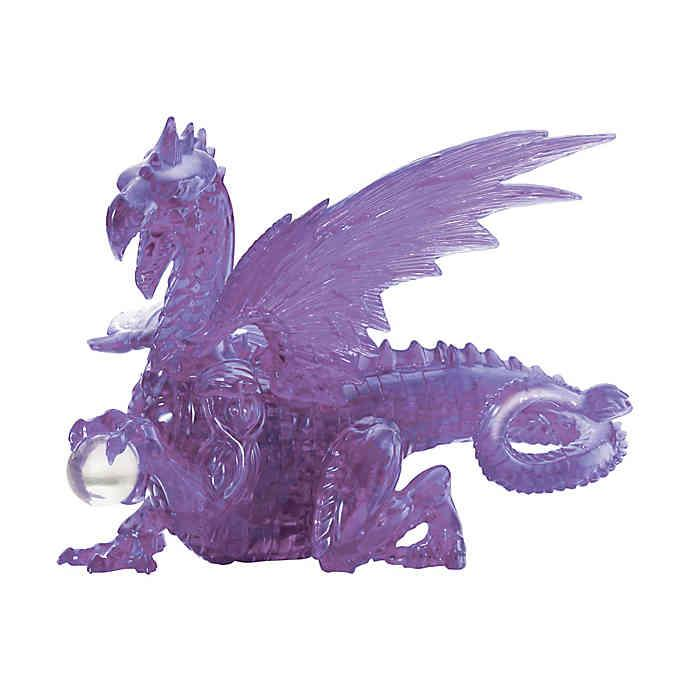 Bepuzzled Crystal 3D Puzzle Dragon Mauve