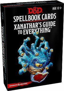 D&D 5 Spellbooks Cards - Xanathar's Guide to Everything