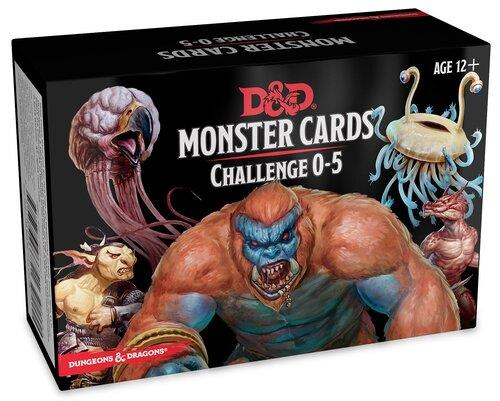 D&D 5 - Monster Cards Challenge 0 - 5
