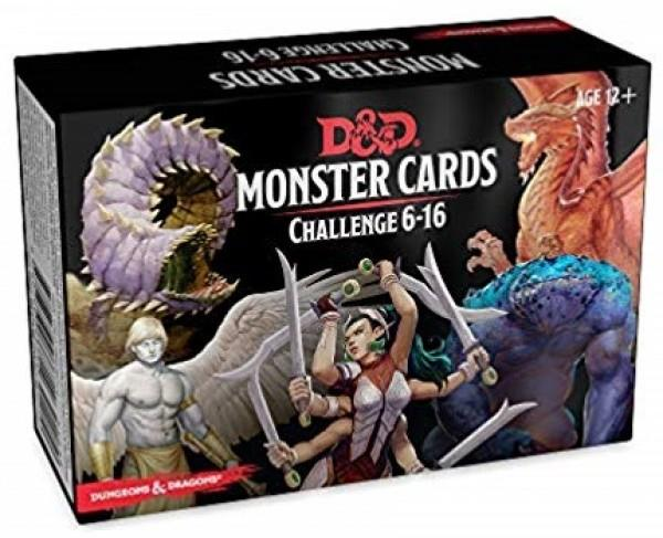 D&D 5 - Monster Cards Challenge 6 - 16