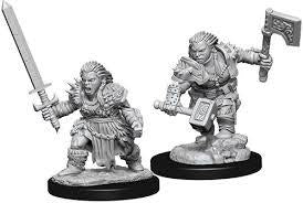 Pathfinder: Battles Deep Unpainted Miniatures Female Dwarf Barbarian