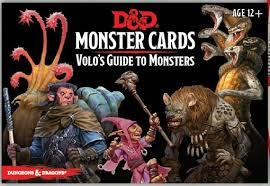 D&D 5 - Volo's Guide to Monsters - Monster Cards
