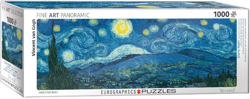 Puzzle 1000P Starry Night Van Gogh Panorama