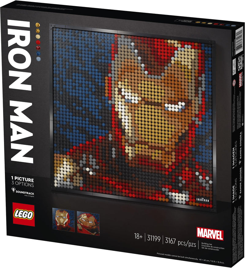 Lego Art Iron Man de Marvel Studios