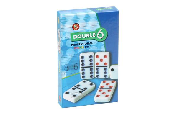 Dominos Double 6 couleurs
