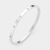 Designer Inspired Stainless Steel Bangle with Gems