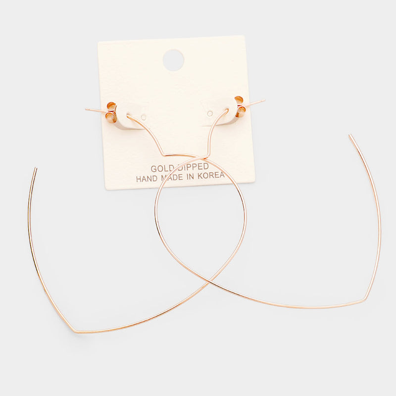 Gold Heart Hoop Earring