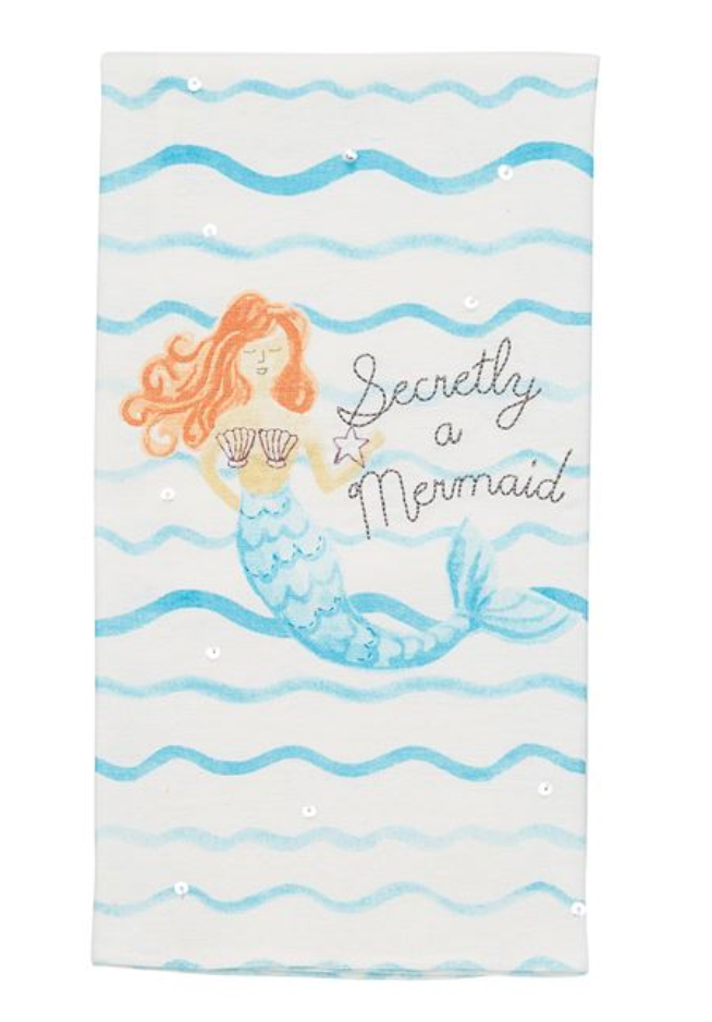 Mudpie Mermaid Hand Towels - comes in different designs!