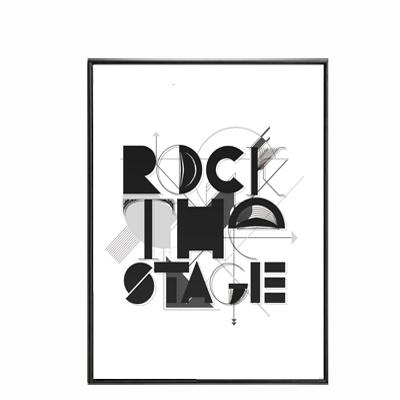 "Tableau moderne ""Rock the stage"" Mode Déco 20x25cm"