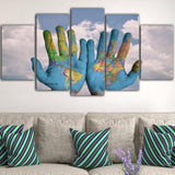 "Tableau ""World in my hands"" Mode Déco"